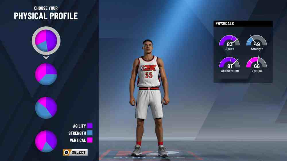 NBA 2K20: Physical Profile