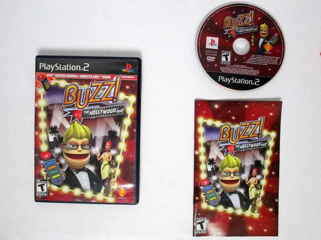 Buzz The Hollywood Quiz Bundle Game For Playstation 2 Complete