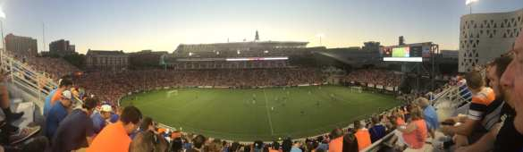 Panoramic view in the second half.