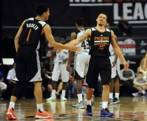 Devin Booker (1) put on a show in the 2015 Las Vegas Summer League. Courtesy of USA Today Sports