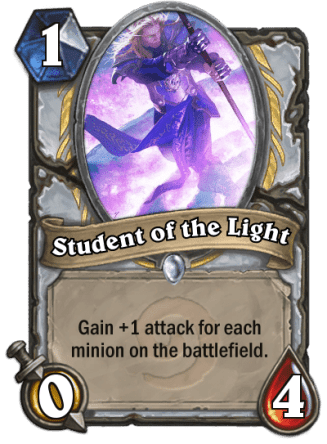 student of the light card