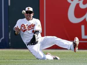 Mark Trumbo has been very productive for the Orioles, especially since he was traded a backup catcher. Photo courtesy of Butch Dill of the USA Today