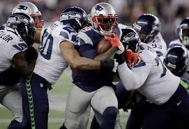 Legarrette Blount racked up 69 yards rushing and three touchdowns in Sunday's loss to Seattle.