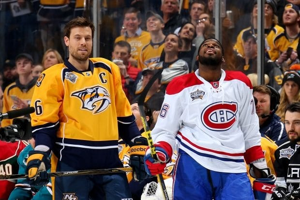 Shea Weber, P.K. Subban, Michel Therrien, Montreal Canadiens, Nashville Predators, Hockey, NHL, Goals, Points, Assists, +/-, Andrei MArkov, Andrew Shaw, Alex Galchenyuk, David Dersharnais, Canadian, Denfense, Defenseman, Offense