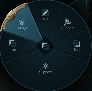 Position Selection highlighting Jungle