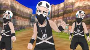 Pokémon Team Skull posing together