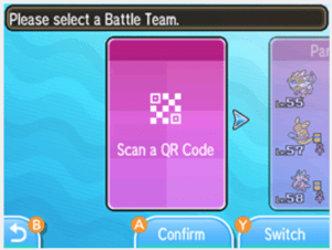 QR Rental Team scan prompt in game