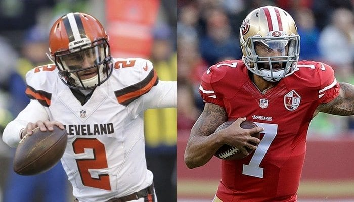 Possible destinations for Manziel and Kaepernick