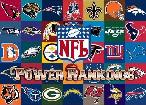 2017 NFL Power Rankings