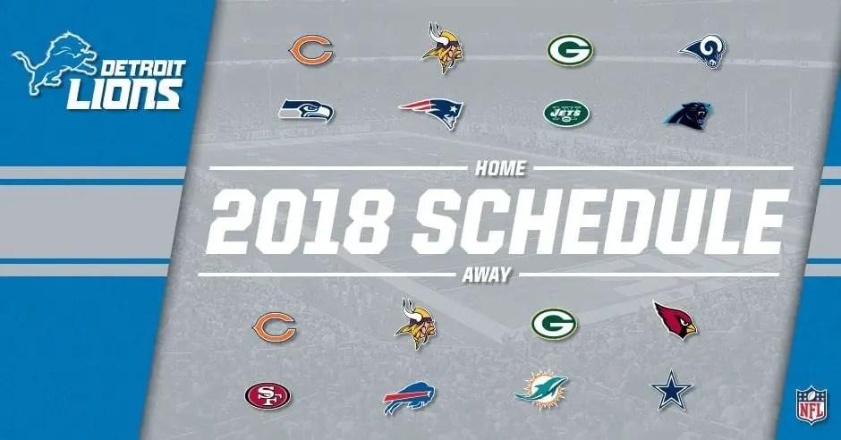 Detroit Lions Schedule Prediction