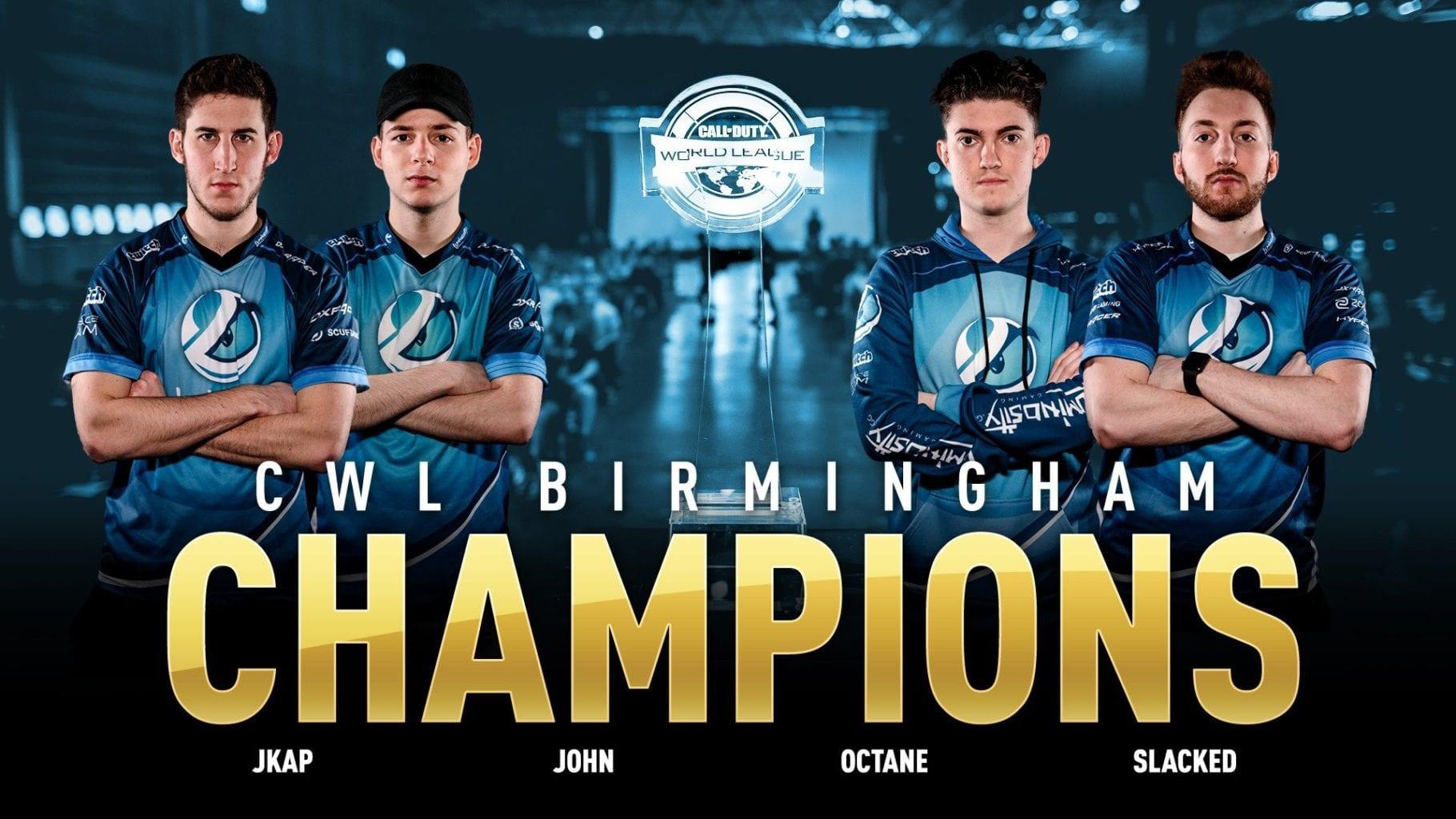 Luminosity: CWL Birmingham champions