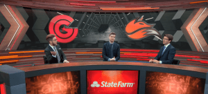 The analyst desk discussing the Clutch Gaming vs Echo Fox game