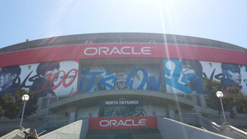The NA LCS Finals are at Oracle Arena in Oakland, California