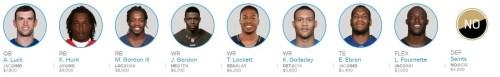 NFL Week 10 Injuries