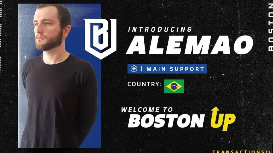 alemao Signed to Boston Uprising