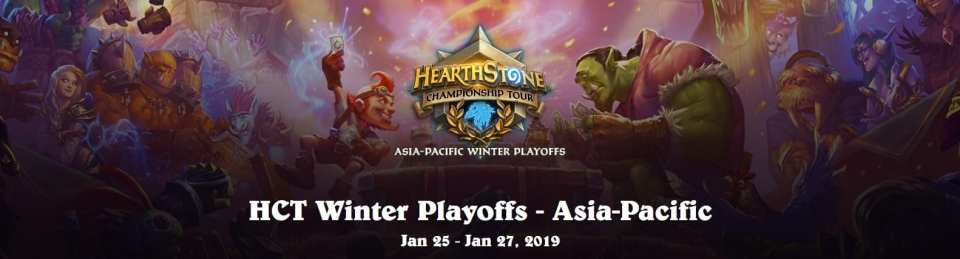 2019 HCT Asia-Pacific Winter Playoffs Preview