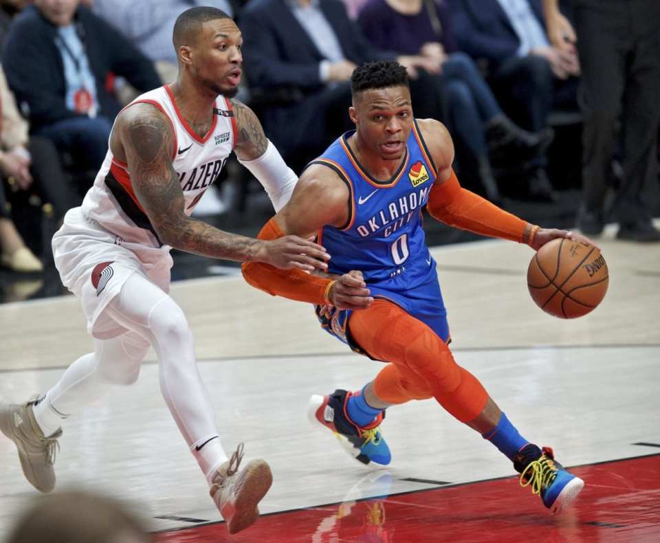 Russell Westbrook-Damian Lillard-NBA playoffs