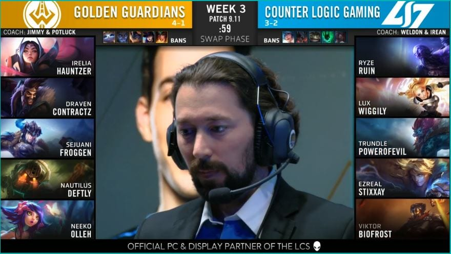 Image from Riot's LCS broadcast.