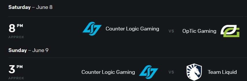CLG faces OpTic Gaming and Team Liquid in Week Two of the 2019 LCS Summer Split.