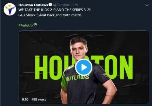 Overwatch League Houston Outlaws San Francisco Shock