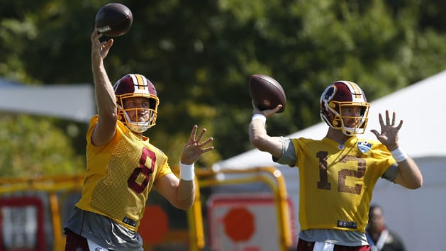 Case Keenum misses practice on Wednesday while Colt McCoy returns
