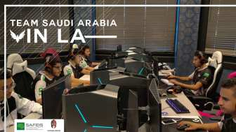 Team Saudi Arabia practicing for the Overwatch World Cup
