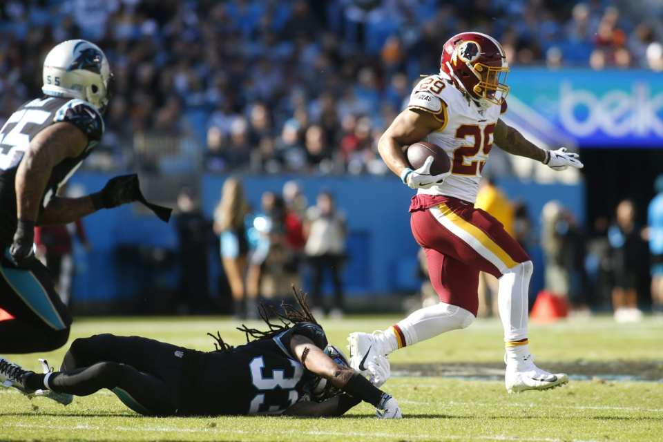 Derrius Guice and the Redskins win 2nd consecutive game against Panthers.