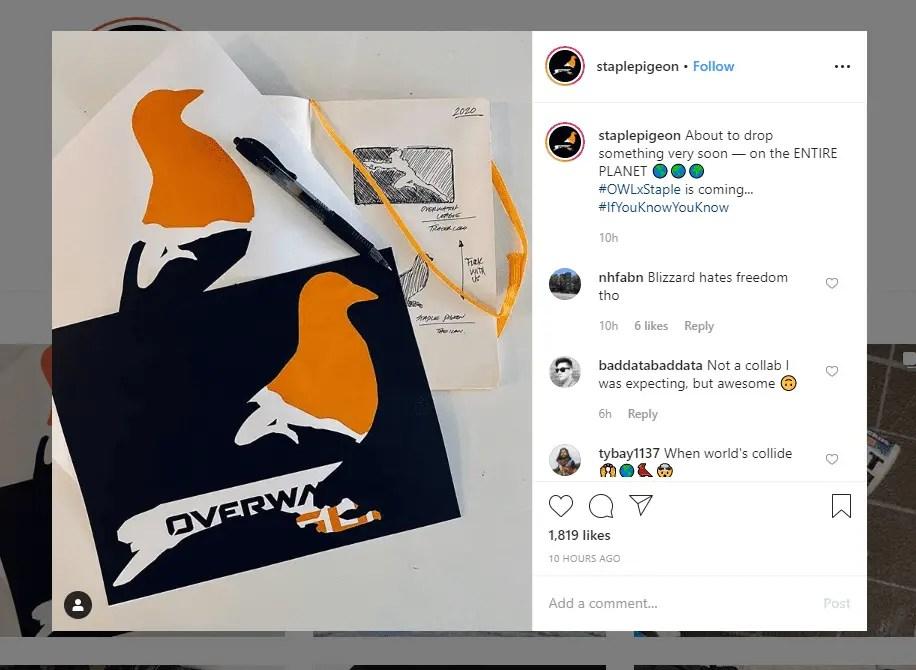 overwatch league staple pigeon