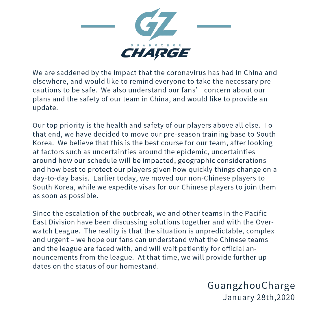 Guangzhou Charge Statement