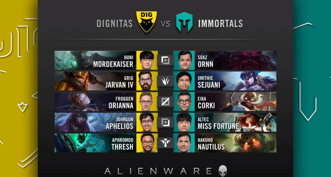 Immortals and Dignitas' draft from Week 5.