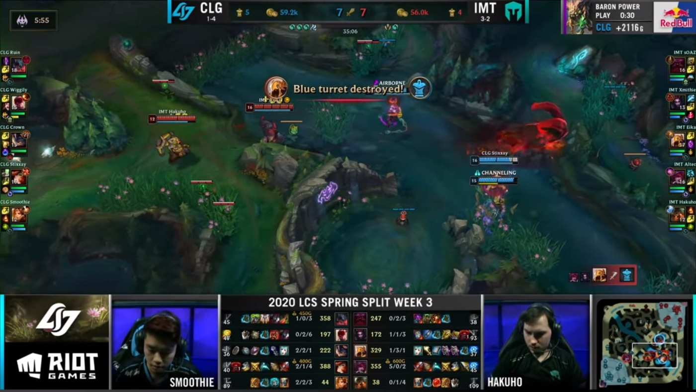 Rather than contest the Ocean Drake, IMT rushed mid lane and stopped CLG's recalls.