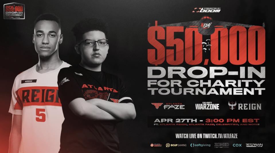 FaZe Host $50K Drop-In for Charity Tournament