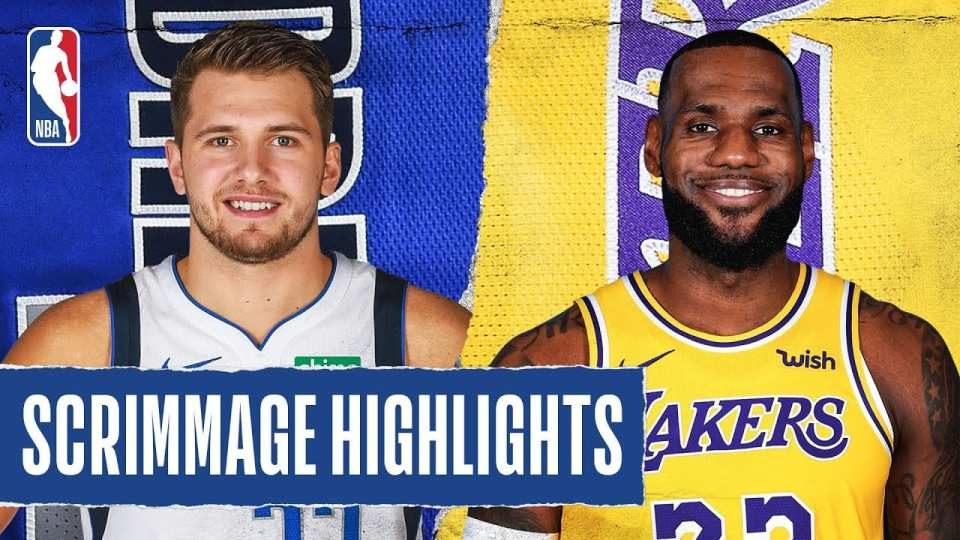 Mavericks vs. Lakers Scrimmage Recap