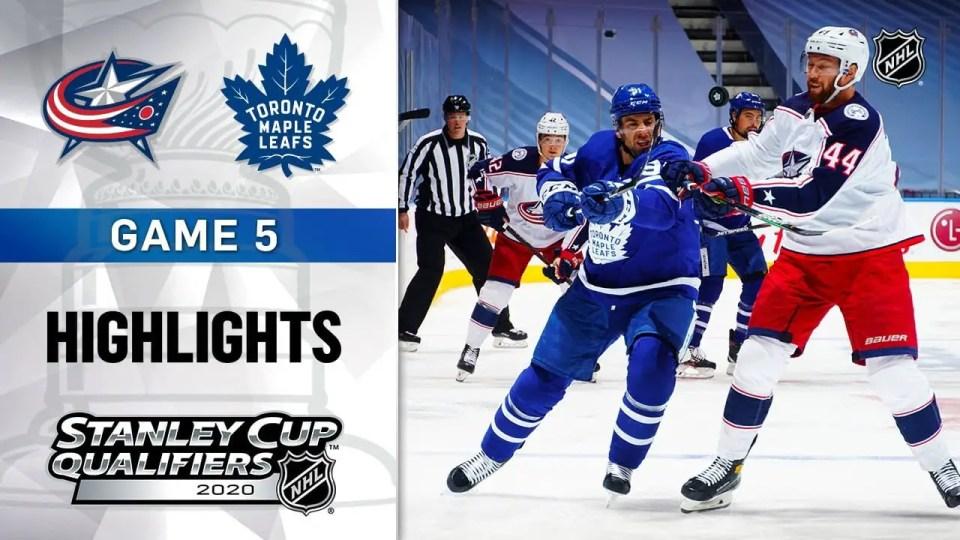 Columbus Blue Jackets vs. Toronto Maple Leafs game recap.