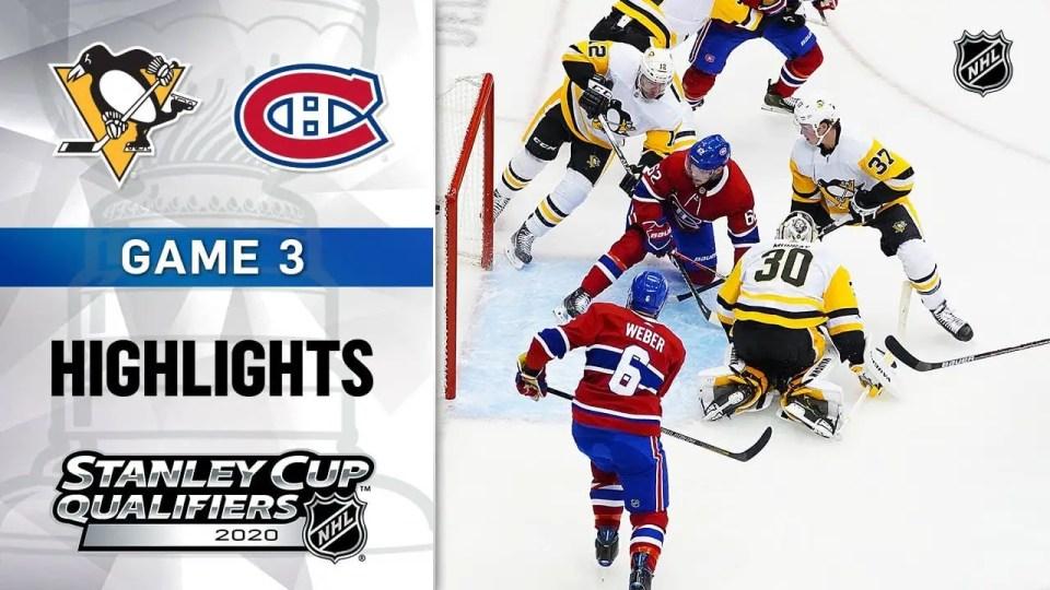 Montreal Canadiens vs. Pittsburgh Penguins game recap.
