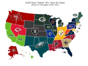 Graph Depicts Teams Most Hated in Each State