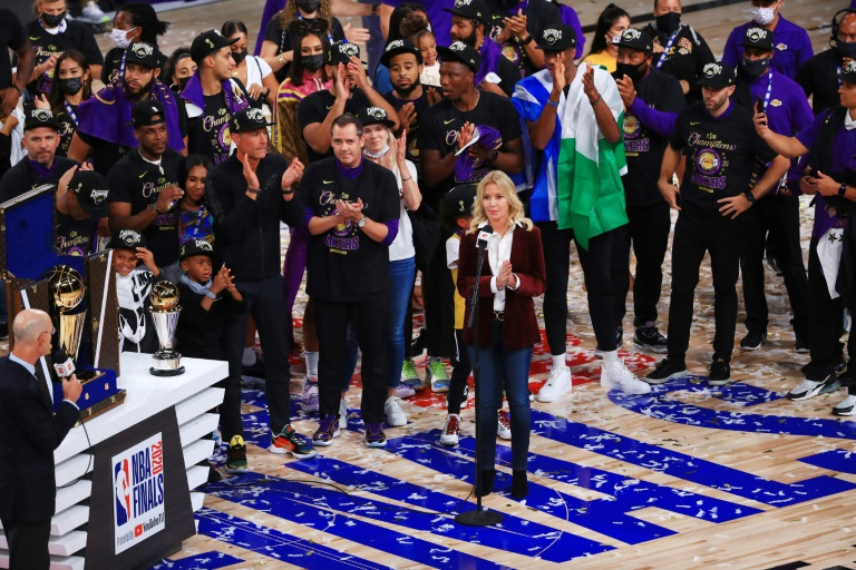 Jeanie Buss becomes first women controlling owner to win NBA championship