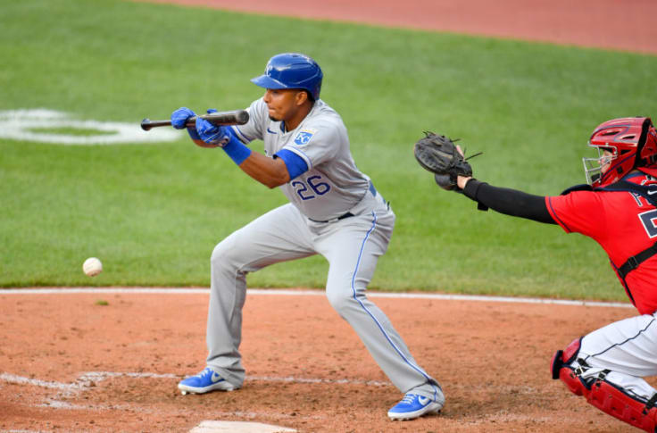 The Royals' Erick Mejia set the Royals up for the W on July 25th with a pristine sac bunt. (Image Courtesy of AP)