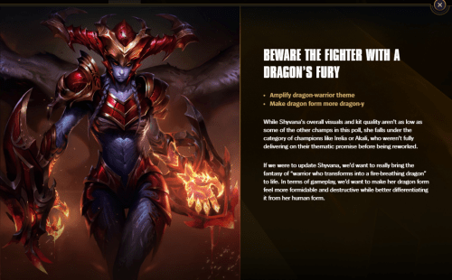 Champion Rework Vote Shyvana