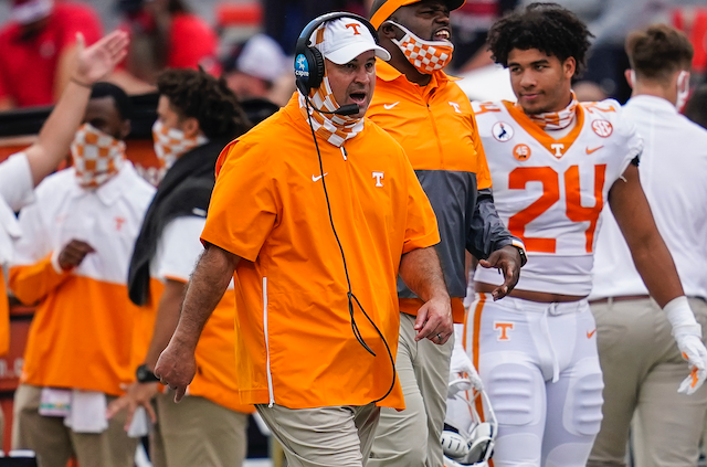 Tennessee to Part Ways With Head Coach Jeremy Pruitt
