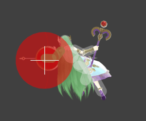 Palutena's Back Air Hitbox Size makes it efficient for spacing