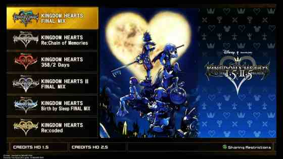 Kingdom Hearts 1.5 + 2.5 Title Sreen