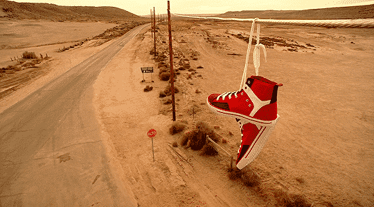 303 red shoes