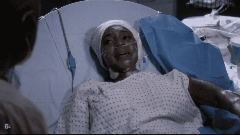 steph in hospital bed