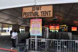 Festival Tent. During the morning the panels were in here and during the night the DJ's rocked EDM. Photo Source: Shannon Parola