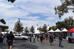 Far side of the exhibit area near the comedy tent! Photo Source: Shannon Parola
