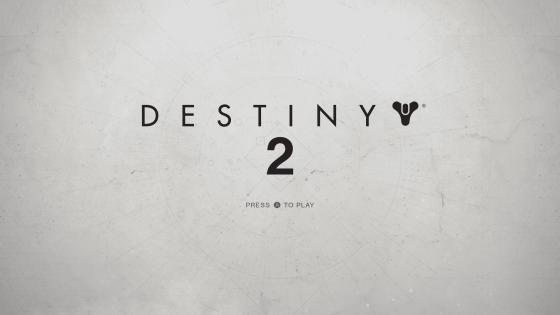 Destiny 2 Title screen