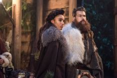Maisie Richardson-Sellers as Amaya Jiwe/Vixen (left) and Nick Zano as Nate Heywood/Steel (right). Photo courtesy of DC Legends TV.