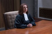 "THE GOOD PLACE -- ""Somewhere Else"" Episode 213 -- Pictured: Maya Rudolph as Judge -- (Photo by: Colleen Hayes/NBC)"