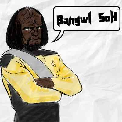 Klingon Worf saying I love you or you are my beloved